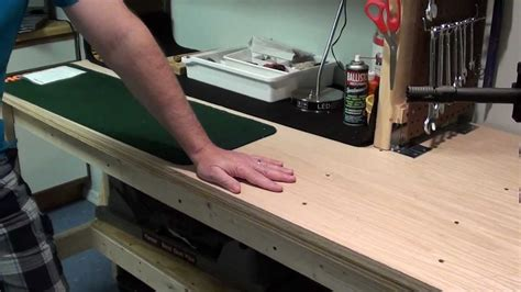 gun work bench new gun workbench done youtube