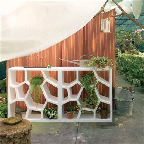 interesting outdoor patio storage and garden shelving ideas