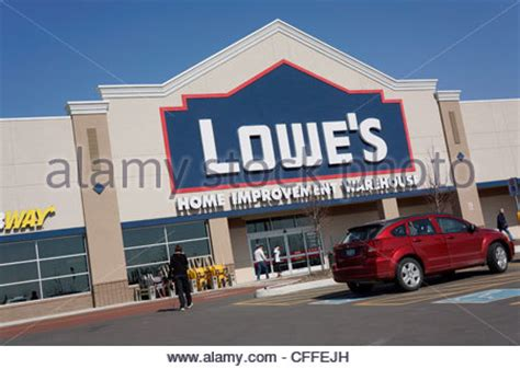 lowe s home improvement store sign usa stock photo