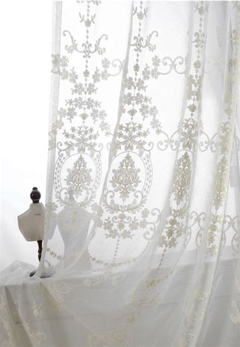 damask voile curtains 1000 ideas about white sheer curtains on pinterest