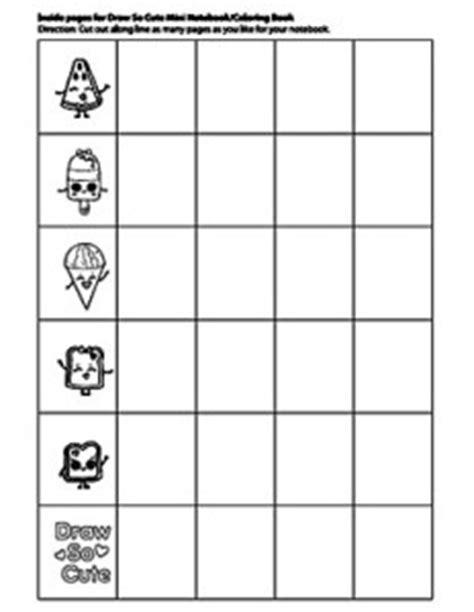 drawsocute mini waterfall card template activities draw so