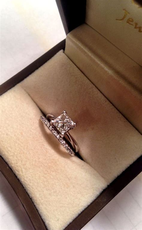 solitaire engagement ring princess cut wedding