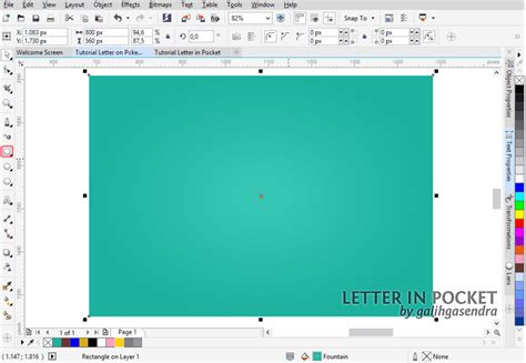 tutorial vector corel x3 corel draw tutorial letter in pocket galih gasendra