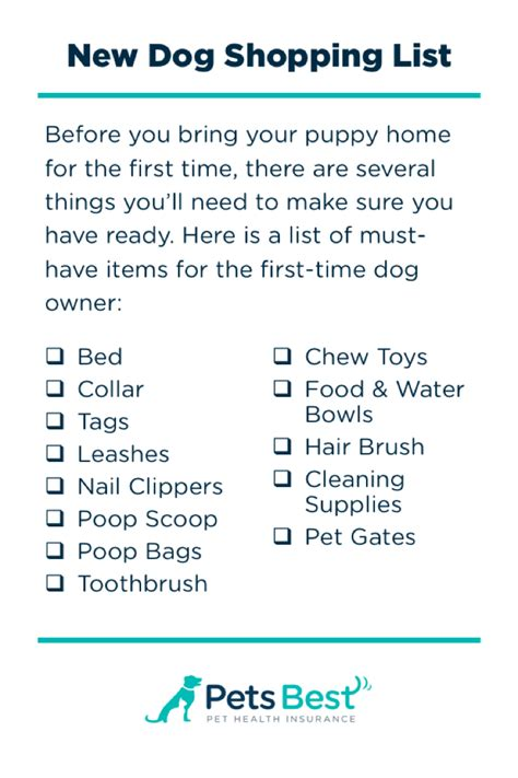 new puppy shopping checklist new owner s guide pets best tips for bringing your new home