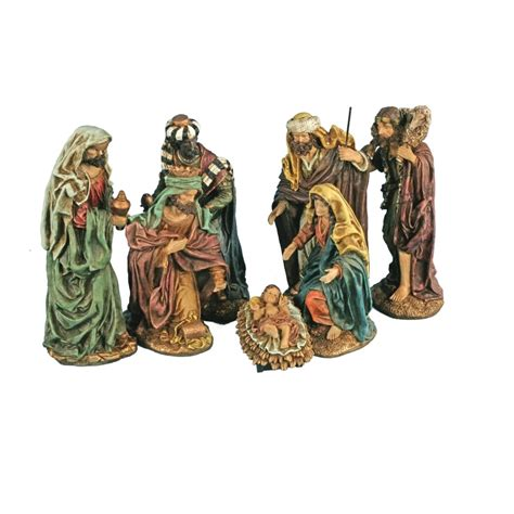 mark roberts musical creche globe 5456940 s 7 nativity set of 7