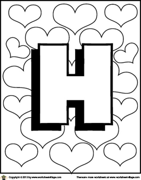 coloring pages for letter h letter h coloring page