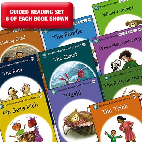 unit the new series 5 encounters books guided reading set dandelion readers units 11 20 series