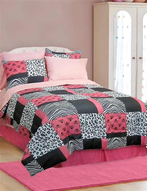 veratex comforter sets veratex pink skulls comforter set stage stores