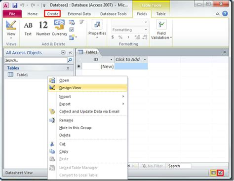 how to find layout view in access 2010 microsoft access 2010 tutorial basic help creating database