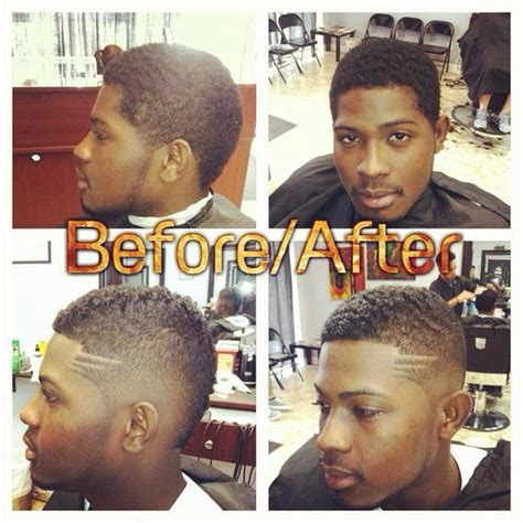 before and after fade haircuts on pjsbarbershop before and after mohawk haircut clean