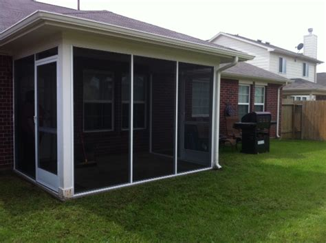 Enclosed Backyard by Enclosed Covered Patio In Houston Lone Patio Builder