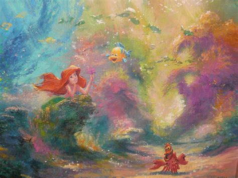 ariel painting disney magic the mermaid from animation to