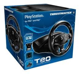 Steering Wheel Ps4 Thrustmaster Thrustmaster T80 Steering Wheel And Pedals For Playstation