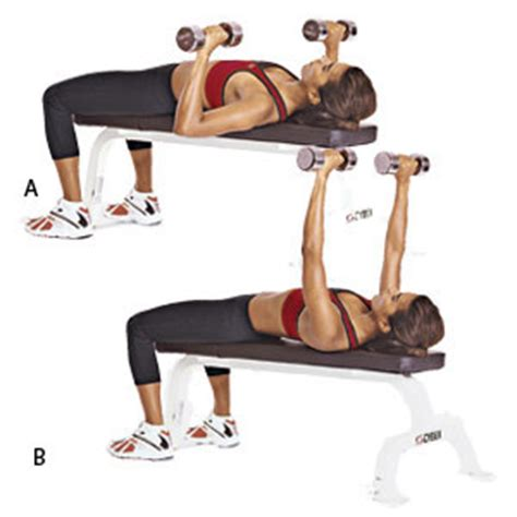 benching with dumbbells work it out chest biceps sprint 2 the table