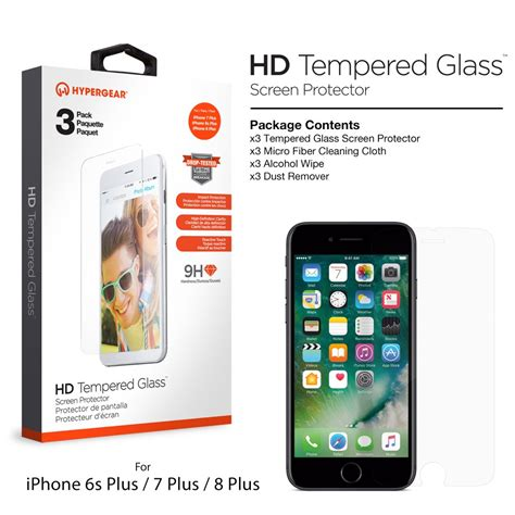 Iphone 6 Hyper Tempered Glass 9h 0 3 Mm Screen Protector 3 pack premium tempered glass for iphone 8 7 6s plus
