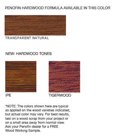 penofin colors hardwood formula wood stain penofin