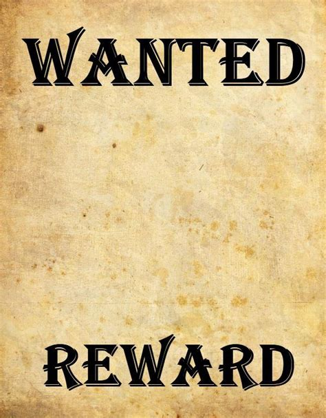 9 Wanted Poster Templates Word Excel Pdf Formats Western Wanted Poster Template