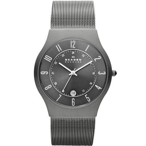skagen s grenen titanium mesh bracelet watches from francis gaye jewellers uk