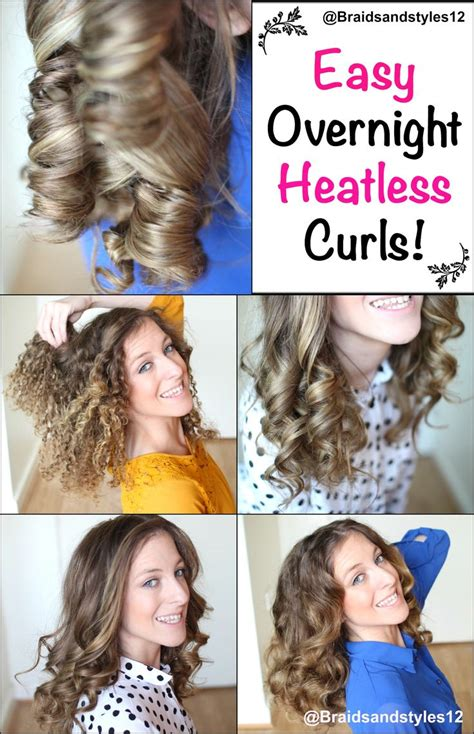 heatless hairstyles for school pinterest 4 easy overnight heatless curl methods by
