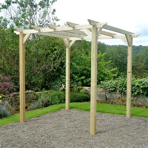 wooden pergola kit m m 6 x 6 coppice wooden garden pergola kit gardener