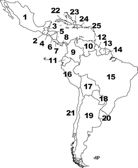 and south america map quiz countries and capitals of central and south america quiz