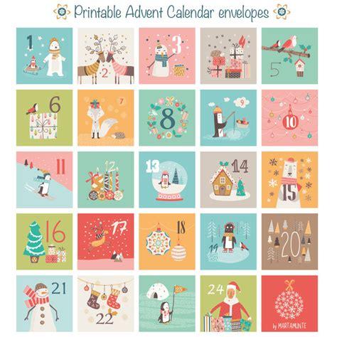 printable countdown to christmas advent calendar printable advent calendar 24 mini envelopes christmas