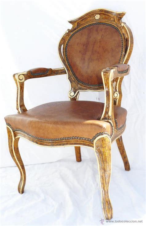silla antigua silla antigua tipo luis xv restaurada en marron comprar