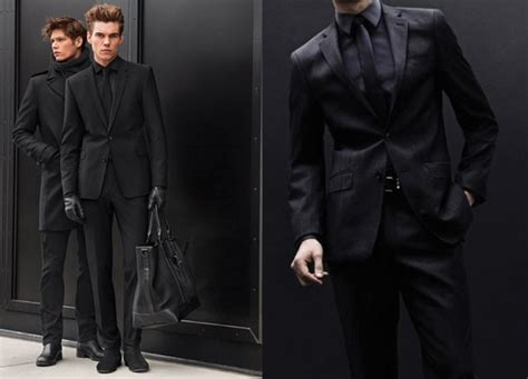 Black Formal Style Suit 41444 how to wear the s new black suit