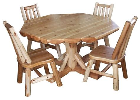 Log Cabin Dining Table Rustic Dining Table Set Amish Cedar Log Home Cabin Furniture So