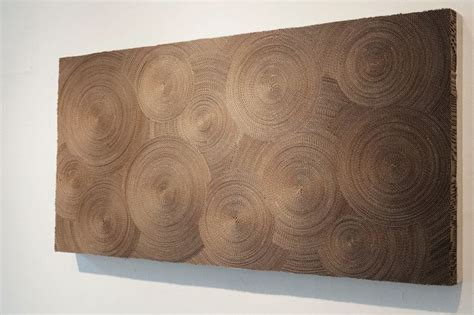 Home Decor Using Recycled Materials Unusual Wall Art Made Of Cardboard Hypnotic Wall Art