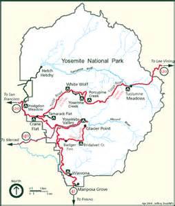 yosemite national park cground maps