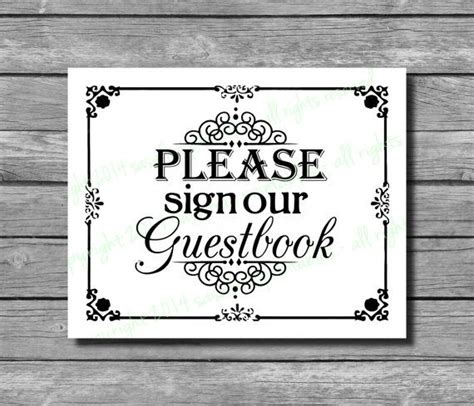 17 Best Images About Please Sign Guestbook On Pinterest Jenga Blocks Wedding Signs And Pearls Sign Our Guest Book Template