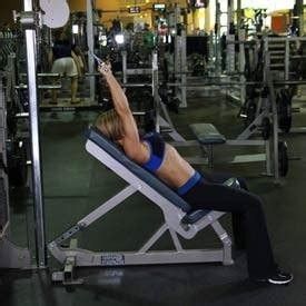 incline bench pull cable incline pushdown exercise guide and video