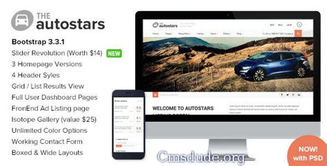 themeforest free html templates themeforest autostars responsive car dealership