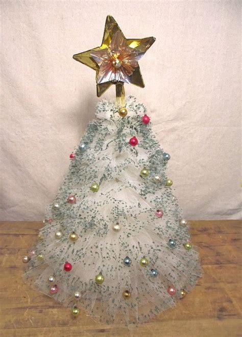 vintage tulle christmas tree holiday pinterest