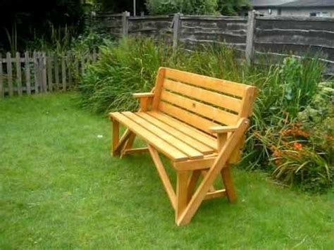 bench turns into picnic table plans wooden bench turns into a picnic table i love this outdoor ideas pinterest