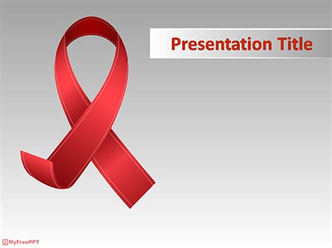 aids template free ribbon powerpoint templates myfreeppt