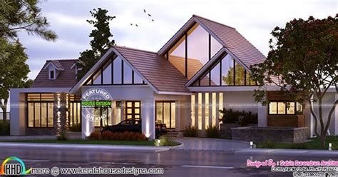 2490 sq ft sloped roof single floor home design veeduonline single floor sloping roof 2463 sq ft kerala home design