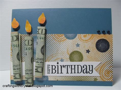 crafting with crystal money gift on the card - Money Gift Card