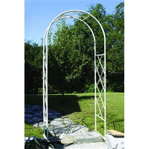 White Metal Garden Trellis Achla Feng Shui Lawn Garden Patio Decor White Wrought