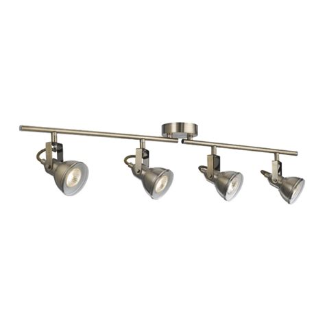 kitchen lighting track antique brass and spotlight st1544ab industrial 4 light antique brass split bar