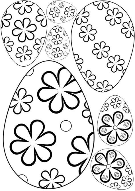 printable easter flowers flower patterned easter eggs rooftop post printables