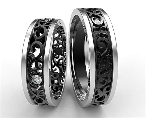 unique matching wedding bands his and hers www pixshark