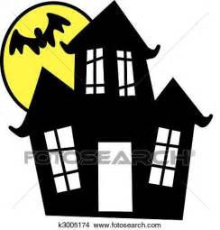 Haunted House Clipart by Clipart Of Haunted House K3005174 Search Clip