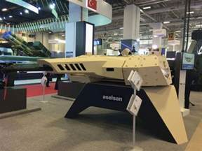 The Nefer unmanned turret was shown at IDEF'17. (IHS Markit/James ... Rangefinder