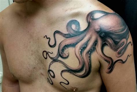 octopus tattoo on chest octopus shoulder tattoo designs ideas and meaning
