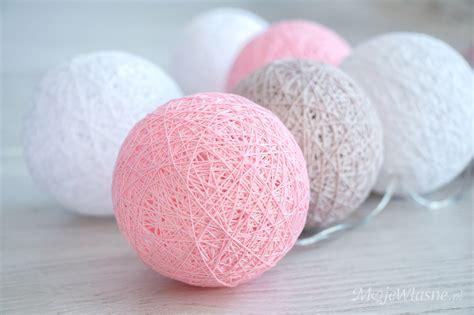 diy light balls handmade cotton balls moje własne