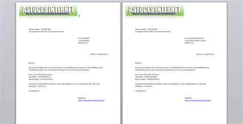 Modèle De Lettre Microsoft Word Doc Modele Lettre Word 2003