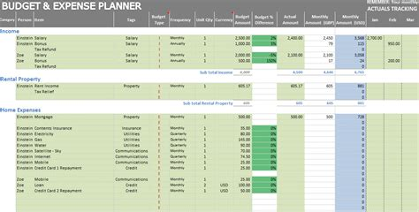 download excel personal expense tracker 7 templates for