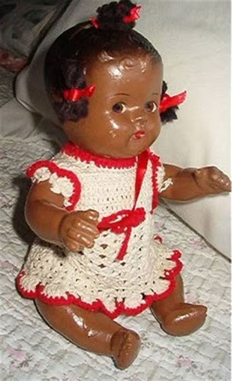 black doll 1940 doll details unmarked composition black baby doll ca